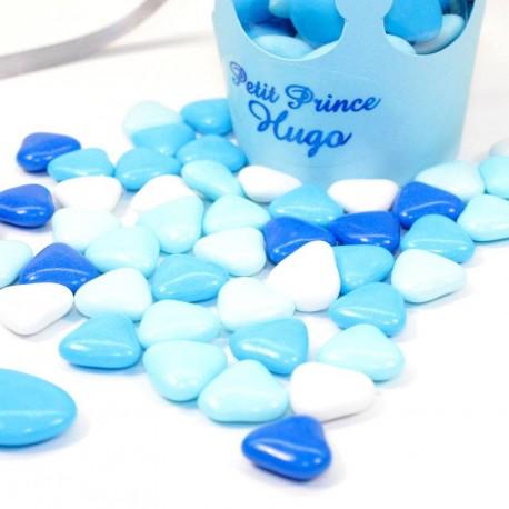 Coeur au chocolat assortiment de bleu 500gr