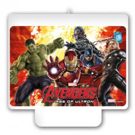 Bougie Avengers rectangulaire très originale pour orner encore plus son gâteau d'anniversaire.