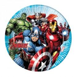 8 Assiettes Avengers 23 cm