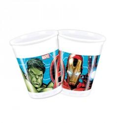 8 Gobelets Avengers 20cl