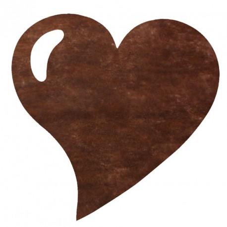 50 Sets de table cœur chocolat, en tissu non tissé polyester.