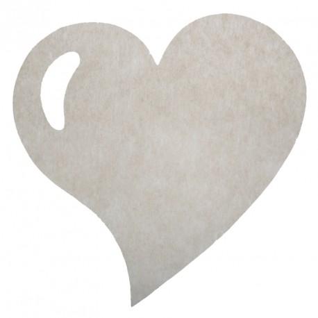 50 Sets de table cœur taupe, en tissu non tissé polyester.