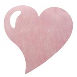 50 Sets de table cœur rose, en tissu non tissé polyester.