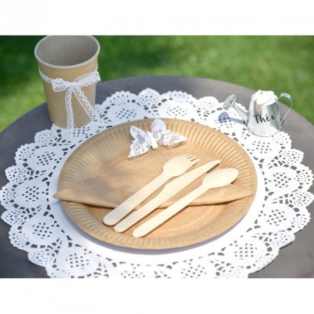 10 Sets de table napperon dentelle blancs