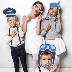 Photobooth Pilote d'Avion pour la séance photo incontournable lors d'un anniversaire.