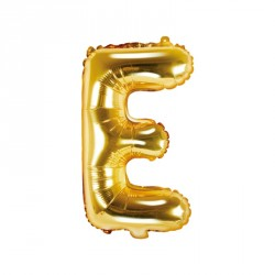 Ballon Lettre E Or 35cm