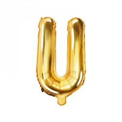 Ballon Lettre U Or 35cm