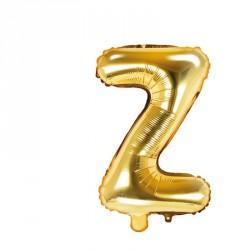 Ballon Lettre Z Or 35cm