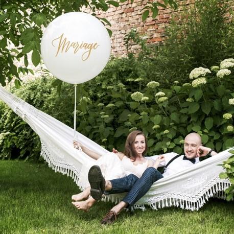 """Ballon Géant 1m """"Mariage"""" pour marquer votre cérémonie de mariage."""