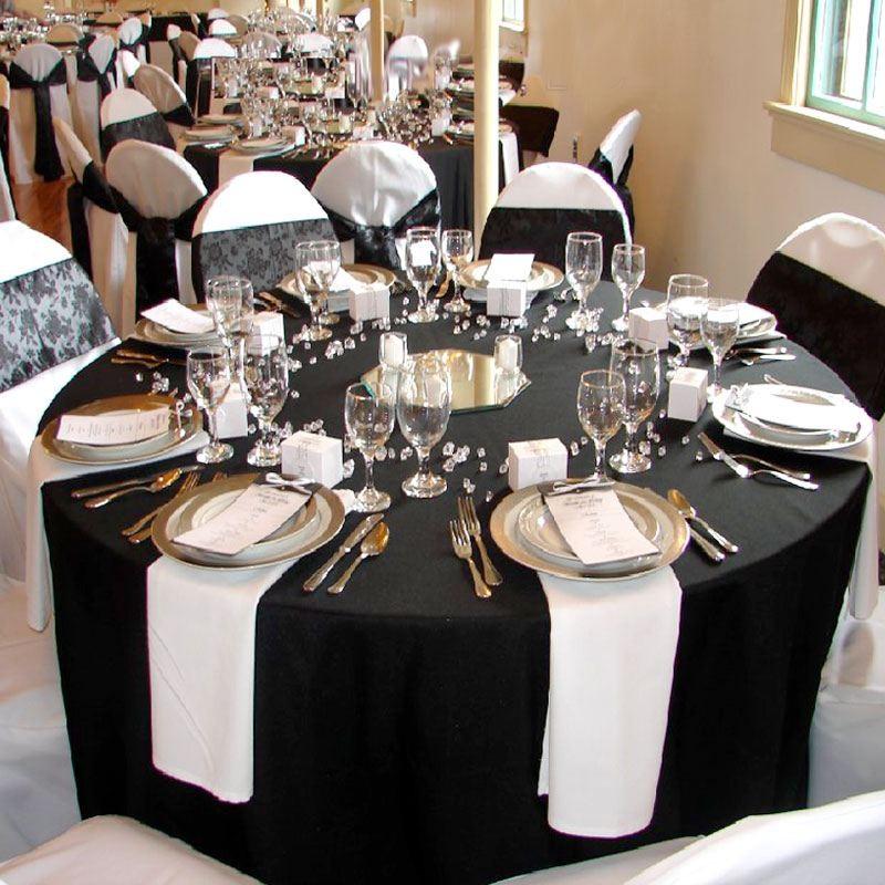 nappe ronde noire haut de gamme pour mariage et f tes. Black Bedroom Furniture Sets. Home Design Ideas