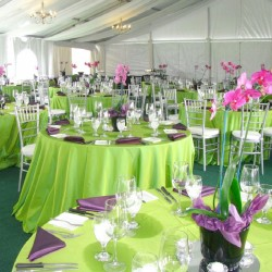 Nappe ronde verte Tissu 300cm haut de gamme
