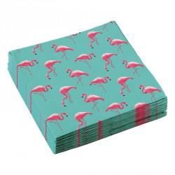 20 Serviettes papier Flamant Rose tiennent vos enfants propres toute la journée.