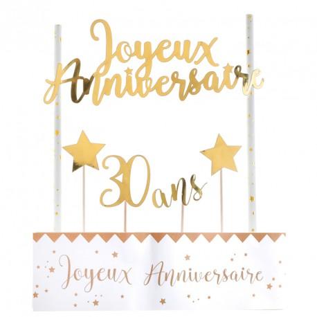 D co de g teau anniversaire 30 ans l gant drag es anahita - Image gateau anniversaire 30 ans ...