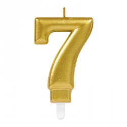 Bougie chiffre 7 or