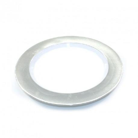 6 petites assiettes rigides argenté réutilisables