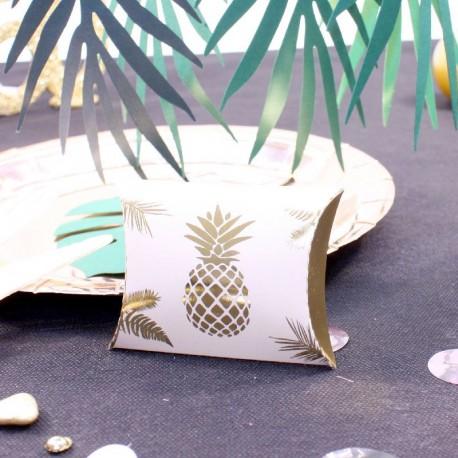 10 pochettes à dragées Ananas Rose Gold