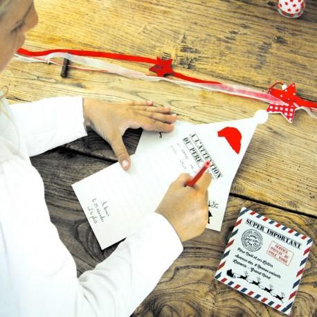 2 Lettres au Père Noël avec enveloppe