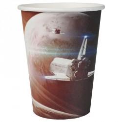 10 gobelets Astronaute