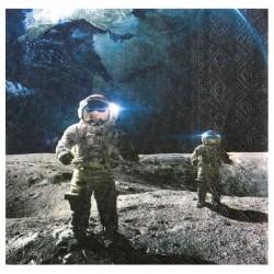 20 Serviettes Astronaute sur la Lune