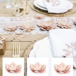3 Fleurs décoratives Roses pour Mariage