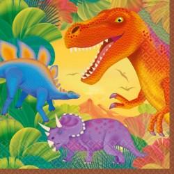 16  grandes Serviettes dinosaure