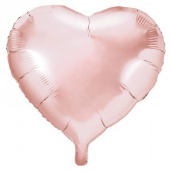Ballon Coeur Rose Gold