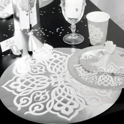 6 Sets de table argent Style Oriental