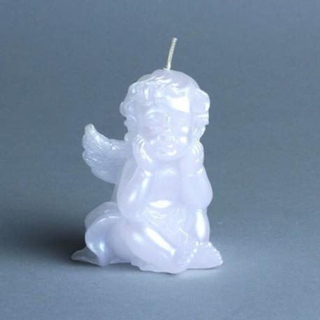 Bougie ange blanc