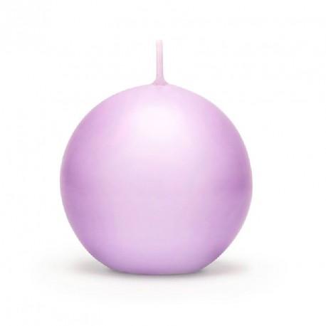 Bougie boule lilas 6cm