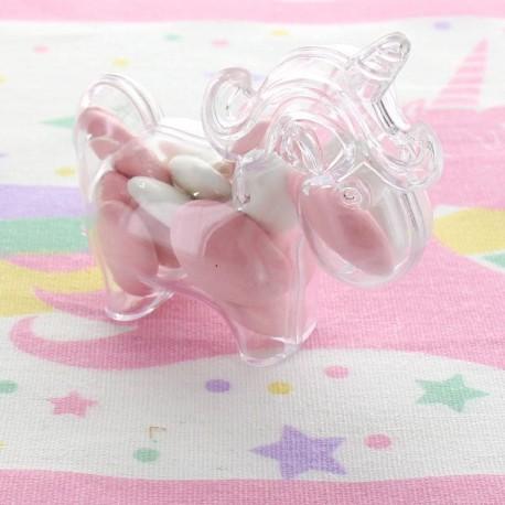 Licorne à dragées transparente