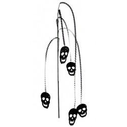 Branche tête de mort halloween noir