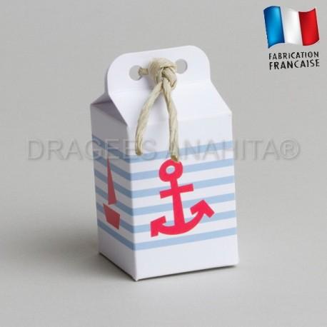 emballage à dragées thème marin
