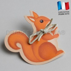 etiquette à dragées ecureuil