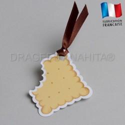 etiquette à dragées biscuit