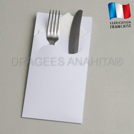 pochette couvert blanc