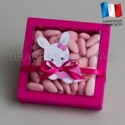 emballage dragées bapteme lapin