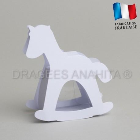 dragées baptême cheval blanc