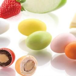 Dragées amandes originales chocolat blanc assortiment de fruit