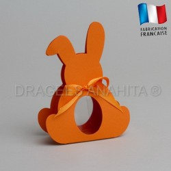 Dragées bapteme lapin orange