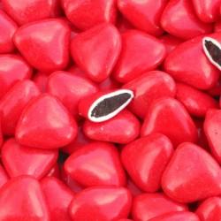 Dragées coeur chocolat rouge 1 Kg