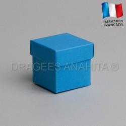 Cube uni à dragées turquoise