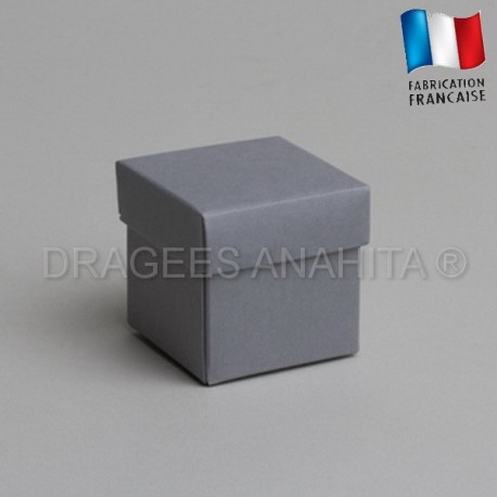 Cube uni à dragées gris