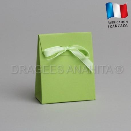 Mini pochon à dragées vert