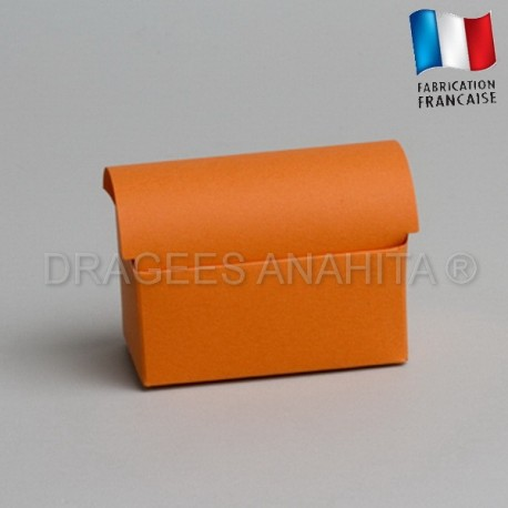 Coffre à dragées orange