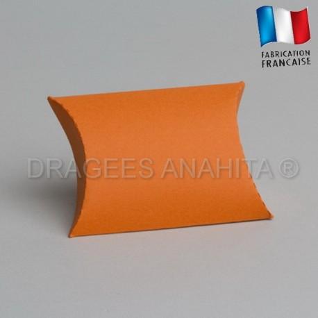 Pochette pour dragées orange