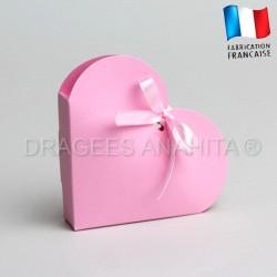 Contenant à dragées coeur rose