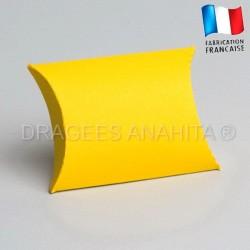 Pochette dragées jaune