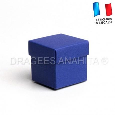 Cube uni à dragées marine