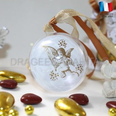 Boule à dragées ange blanc