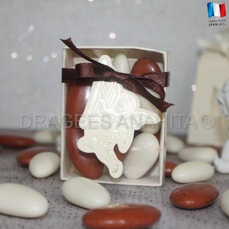 Fourreau pour dragées ange ivoire